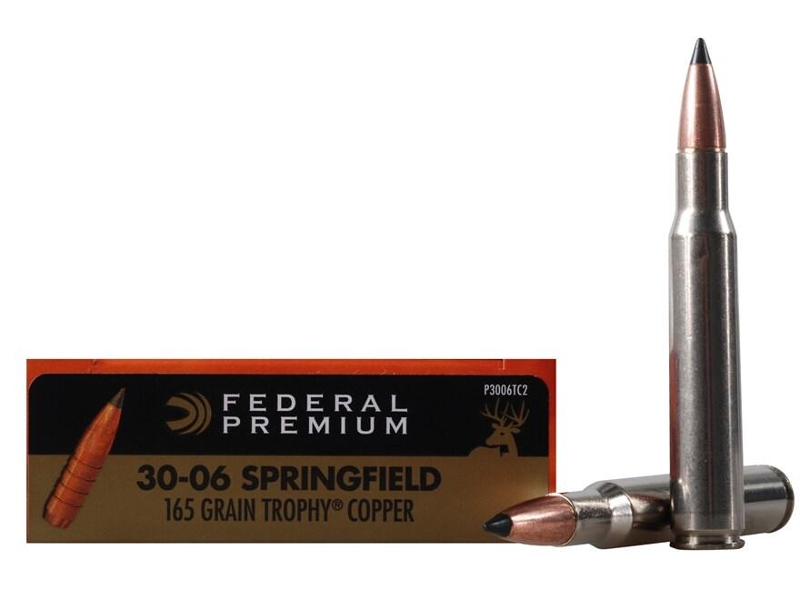 Federal Premium Vital-Shok Ammunition 30-06 Springfield 165 Grain Trophy Copper Tipped ...