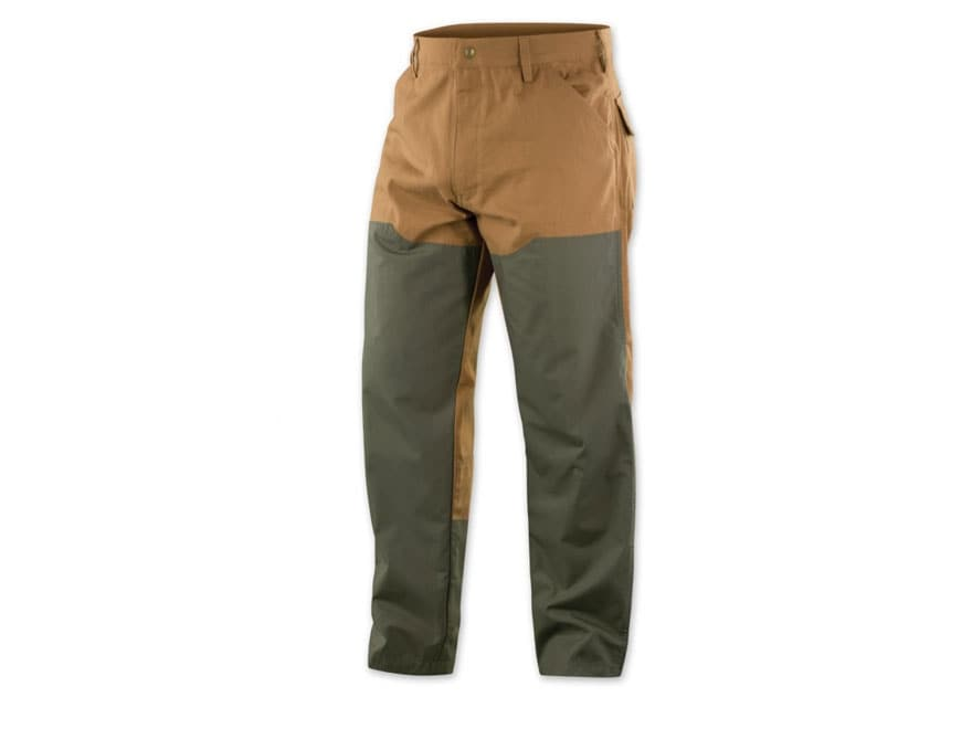Browning Men's Pheasants Forever Upland Brush Pants Cotton Canvas Field Tan and Loden