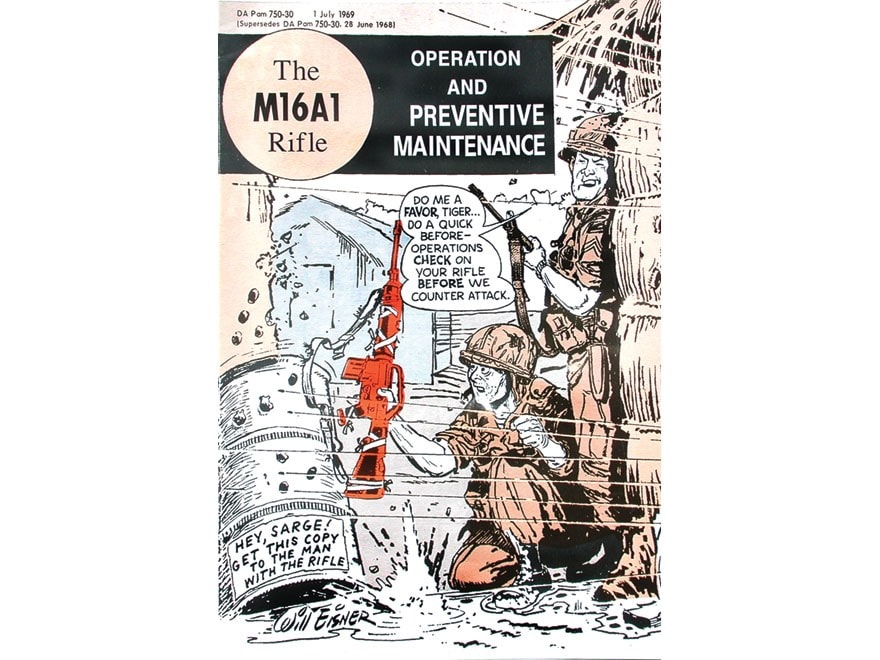 """The M16A1 Rifle: Operation And Preventive Maintenance"" GI Comic Book Format Military M..."