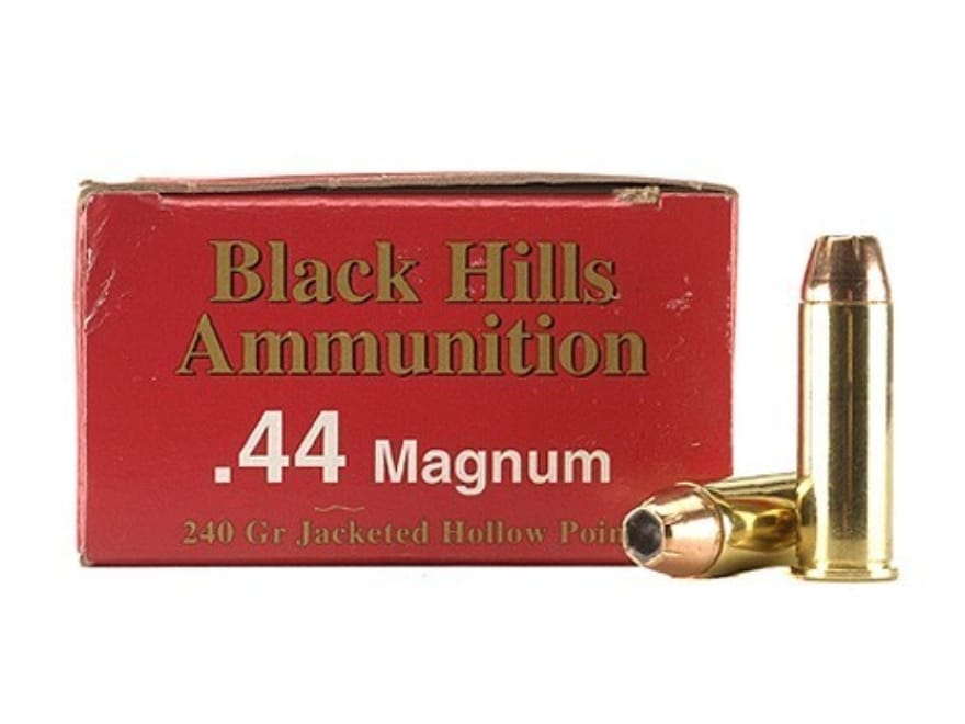 Black Hills Ammunition 44 Remington Magnum 240 Grain Jacketed Hollow Point Box of 50