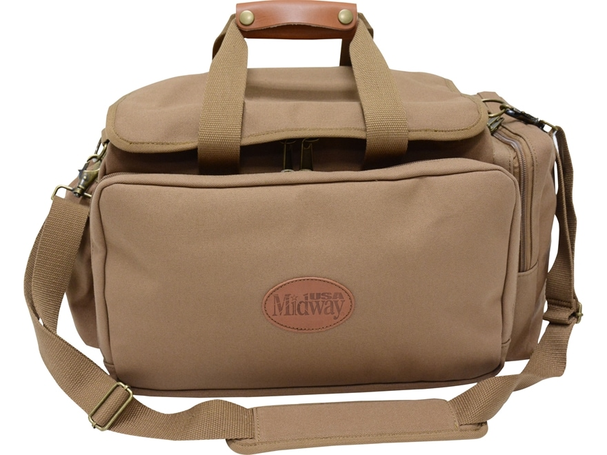 MidwayUSA Deluxe Cotton Canvas Shotgun Range Bag Dark Khaki
