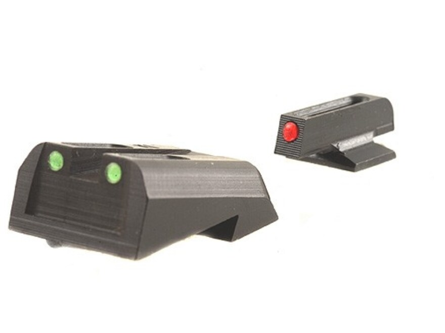 TRUGLO Brite-Site Sight Set 1911 Kimber Front and Rear Sight Cuts Steel Fiber Optic Red...