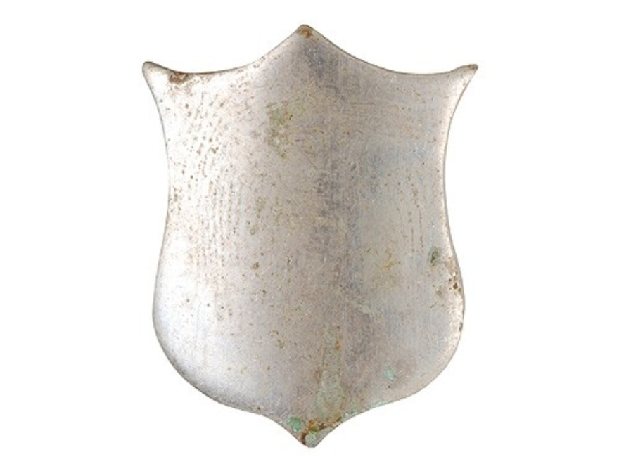 "Galazan Stock Shield 13/16"" Long x 5/8"" Wide Nickel Plated"