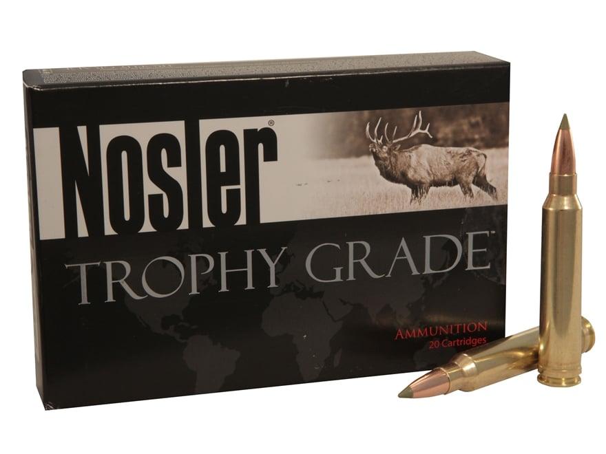 Nosler Trophy Grade Ammunition 300 Winchester Magnum 180 Grain E-Tip Box of 20