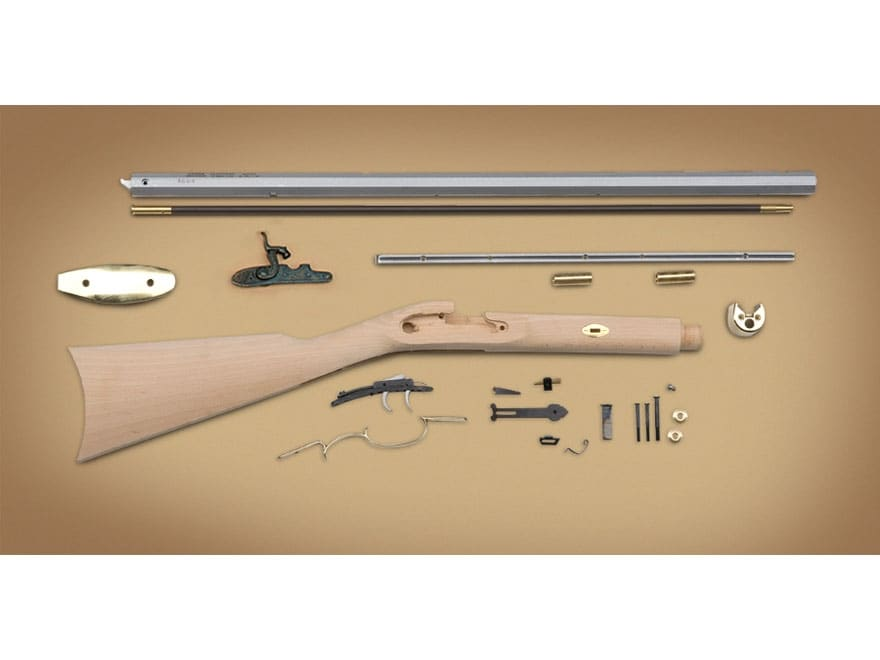 """Traditions Frontier Muzzleloading Rifle Kit 50 Caliber Percussion 28"""" Barrel Hardwood S..."""