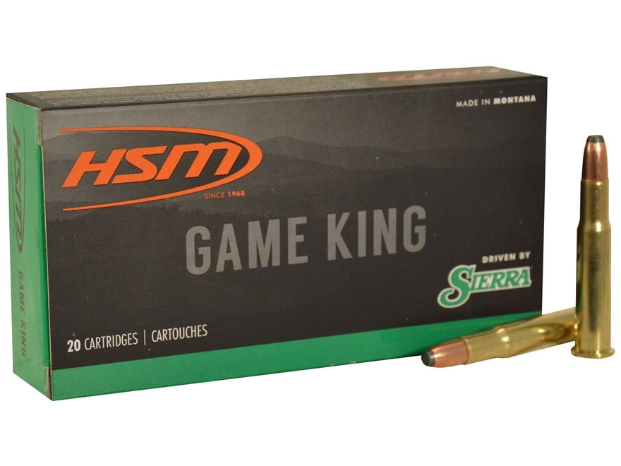 HSM GameKing Ammunition 30-30 Winchester 170 Grain Sierra Pro-Hunter Soft Point Boat Ta...