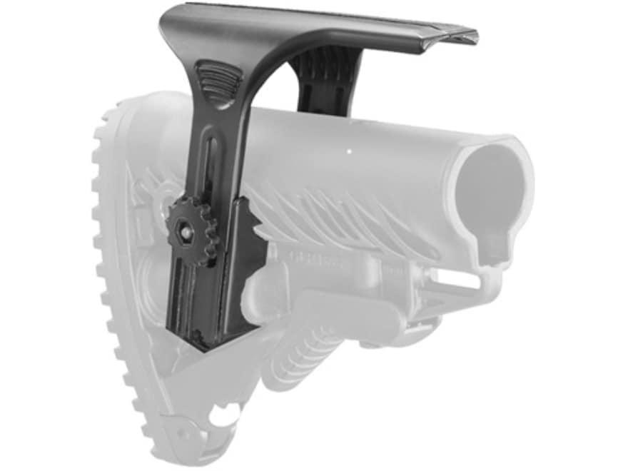 FAB Defense Adjustable Cheek Rest for GLR16 AR-15 Buttstocks Polymer Black