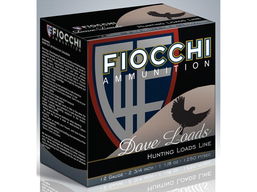 """Fiocchi Game & Target Ammunition 12 Gauge 2-3/4"""" 1-1/8 oz #7-1/2 Shot"""