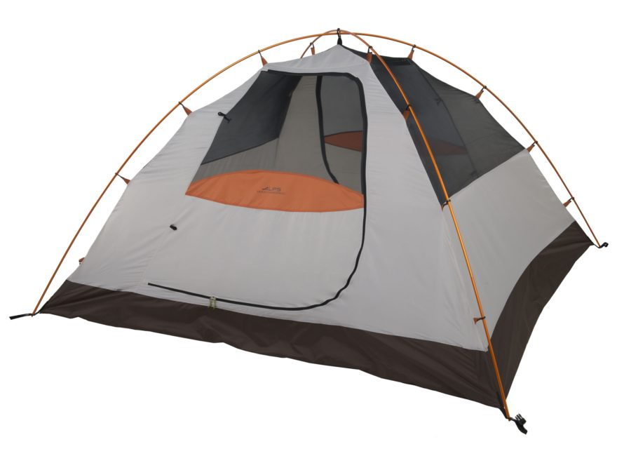"ALPS Mountaineering Lynx 4 Dome Tent 7'6""' x 8'6"" x 4'4"" Polyester Brown, Orange and White"