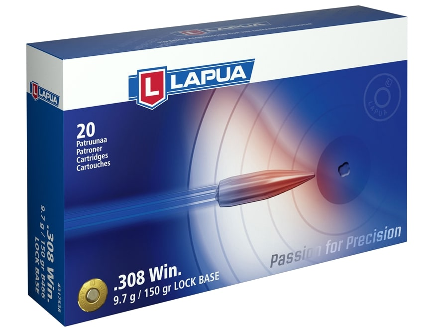 Lapua Ammunition 308 Winchester 150 Grain Full Metal Jacket Box of 20