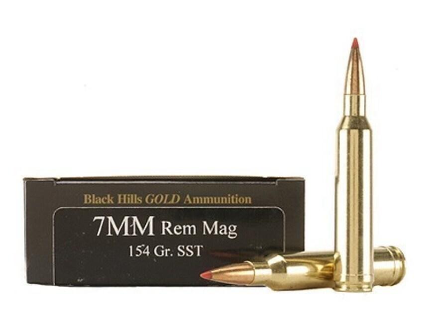 Black Hills Gold Ammunition 7mm Remington Magnum 154 Grain Hornady SST Box of 20