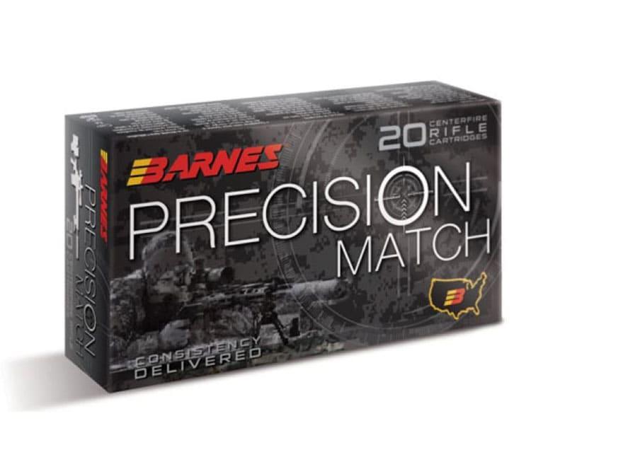 Barnes Precision Match Ammunition 5.56x45mm NATO 69 Grain Open Tip Match Box of 20