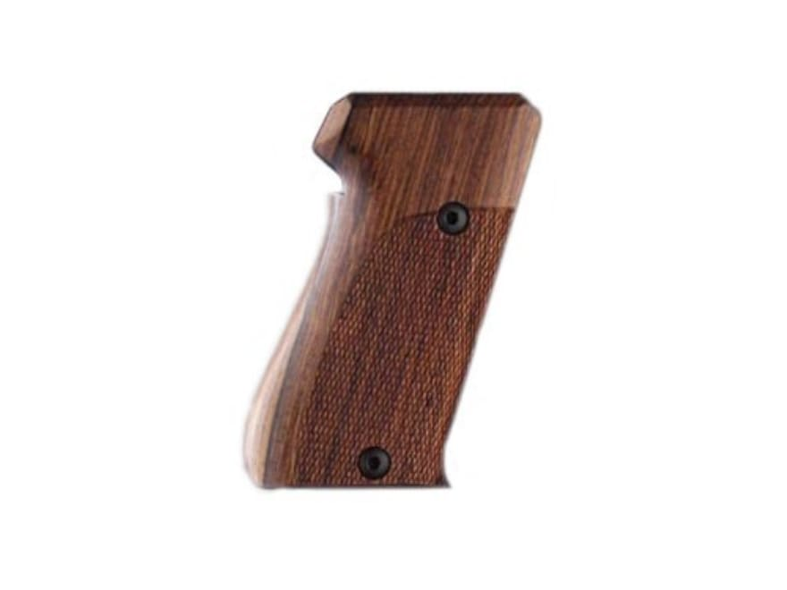 Hogue Fancy Hardwood Grips Sig Sauer P220 Bottom Magazine Release Checkered