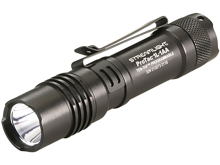 Streamlight ProTac 1L-1AA Flashlight LED with 1 CR123A and 1 AA Battery Aluminum