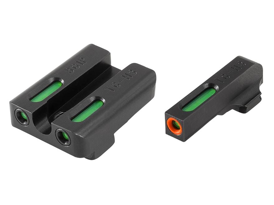 TRUGLO TFX Pro Sight Set Sig Sauer #6/#8 Tritium / Fiber Optic Green with Orange Front ...
