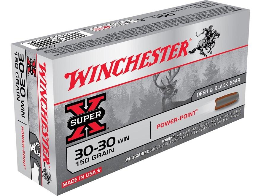 Winchester Super-X Ammunition 30-30 Winchester 150 Grain Power-Point