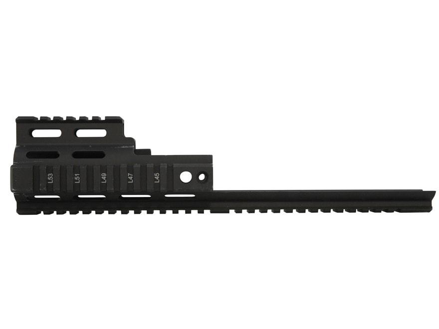 Midwest Industries Quad Rail Forend Extension FN SCAR Mk16, 16S, Mk17, 17S Aluminum Black