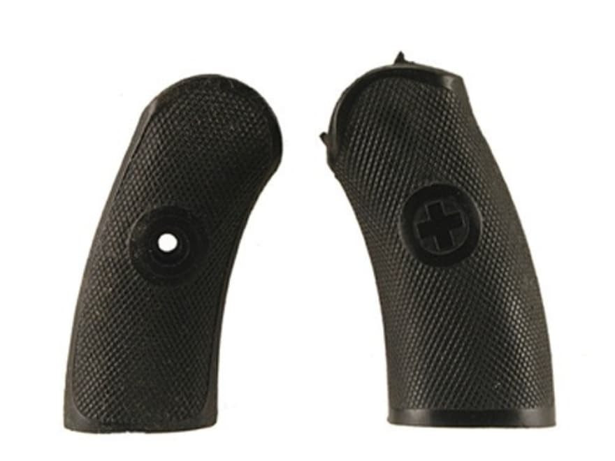 Vintage Gun Grips Swiss M1882 with Cast Escutcheon Polymer Black