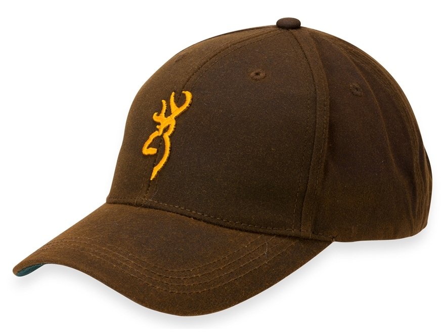 Browning Men's Dura-Wax With 3-D Buckmark Cap Cotton Brown