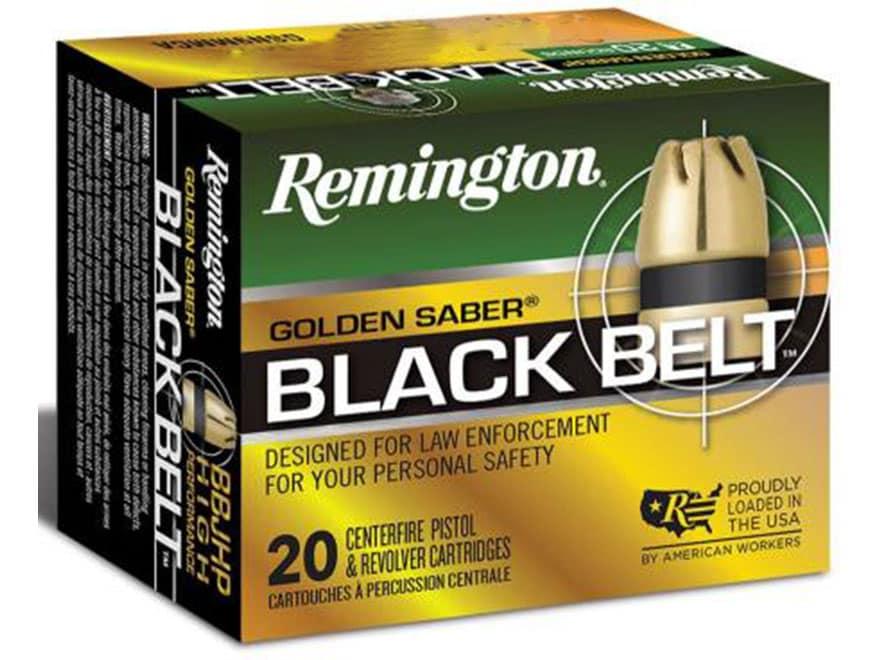 Remington Golden Saber Black Belt Ammunition 9mm Luger 124 Grain Bonded Jacketed Hollow...