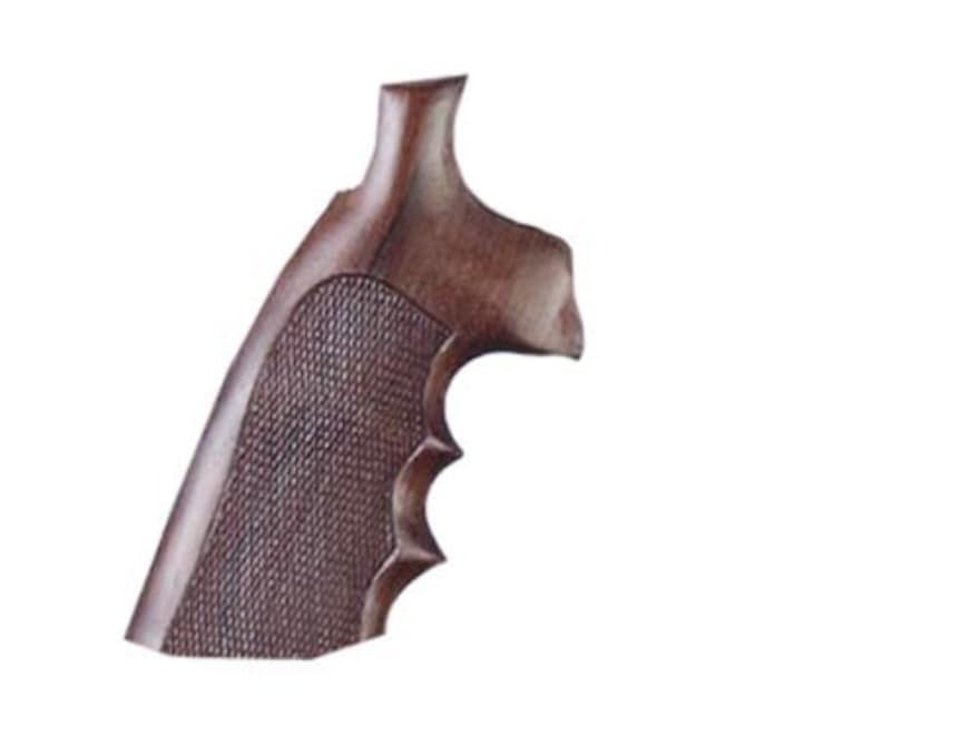 Hogue Fancy Hardwood Grips with Finger Grooves Dan Wesson Small Frame Checkered