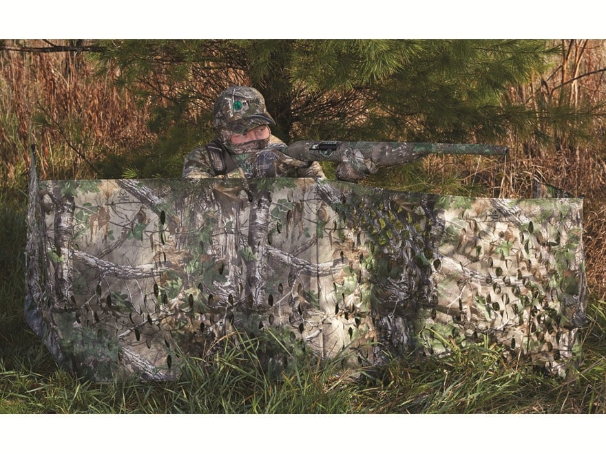 """Hunter's Specialties Portable Ground Blind 12' x 27"""" Polyester Realtree Xtra Green Camo"""
