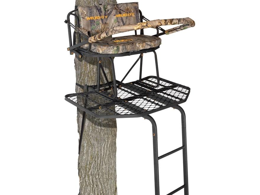 Muddy Outdoors The Prestige 16' Double Ladder Treestand Steel Black