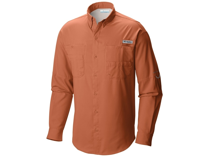 Columbia men 39 s pfg tamiami ii button up shirt long sleeve for Polyester button up shirt