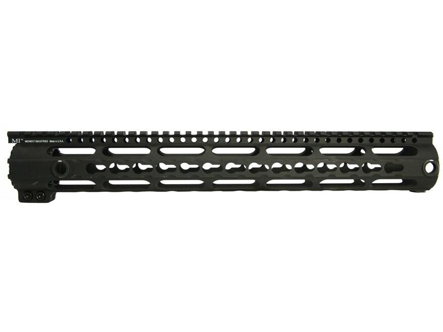 Midwest Industries K-Series Free Float KeyMod Handguard Low Profile LR-308 Aluminum Black