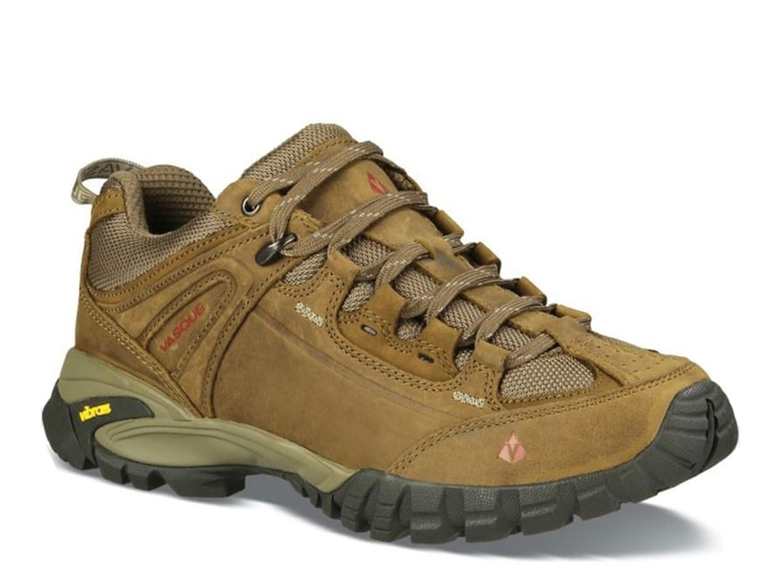 "Vasque Mantra 2.0 4"" Hiking Shoes Leather Dark Earth and Chili Pepper Men's"