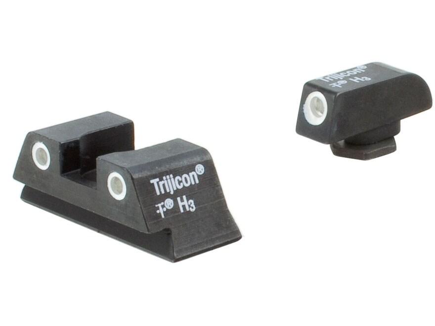 Trijicon Bright & Tough Night Sight Set Glock 42, 43 Steel Matte 3-Dot Tritium Green