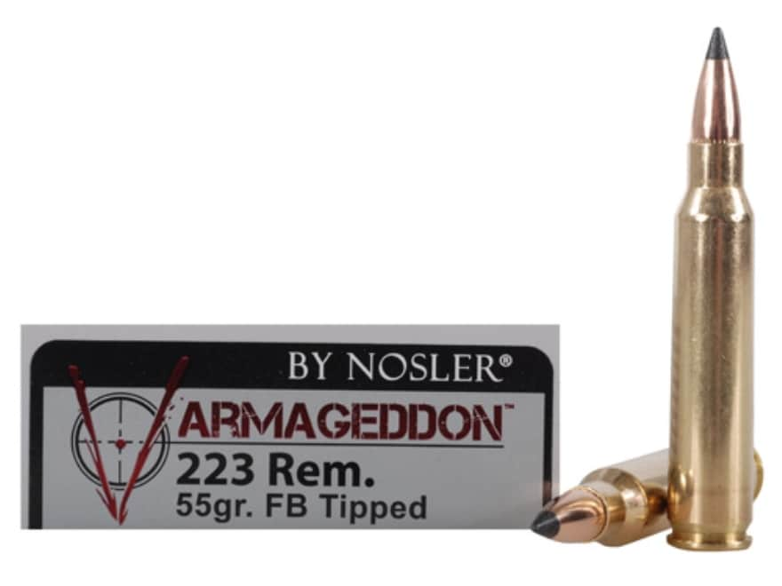 Nosler Varmageddon Ammunition 223 Remington 55 Grain Tipped Flat Base Box of 20