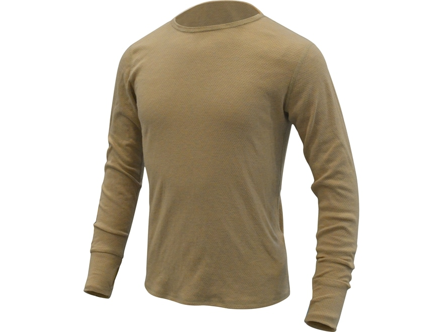 Military Surplus Level 2 Silk-Weight Base Layer Shirt Flame Resistant Sand