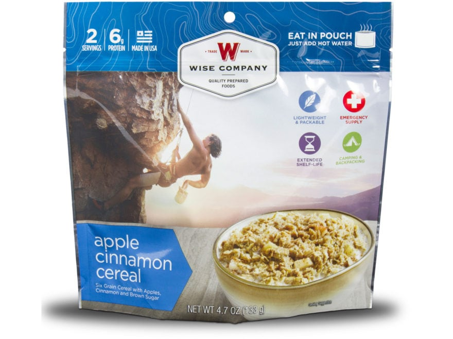 Wise Company Outdoor Apple Cinnamon Cereal Freeze Dried Food Pack of 6