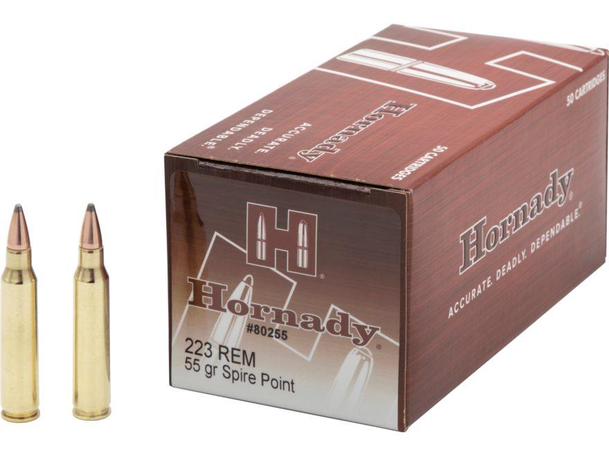 Hornady Custom Ammunition 223 Remington 55 Grain Soft Point Box of 50
