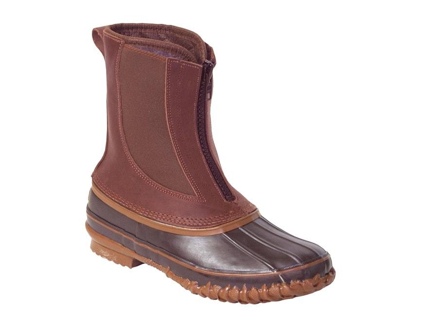 "Kenetrek Bobcat Zip T 10"" Waterproof 400 Gram Insulated Pac Boots Leather/Rubber Brown ..."