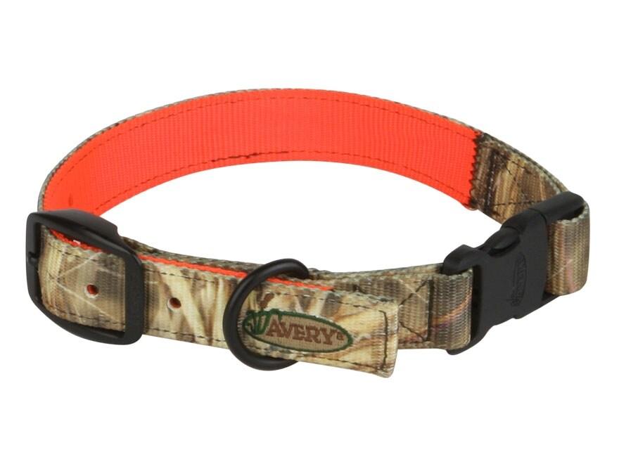 Avery Reversible Dog Collar Polyester Camo and Blaze Orange
