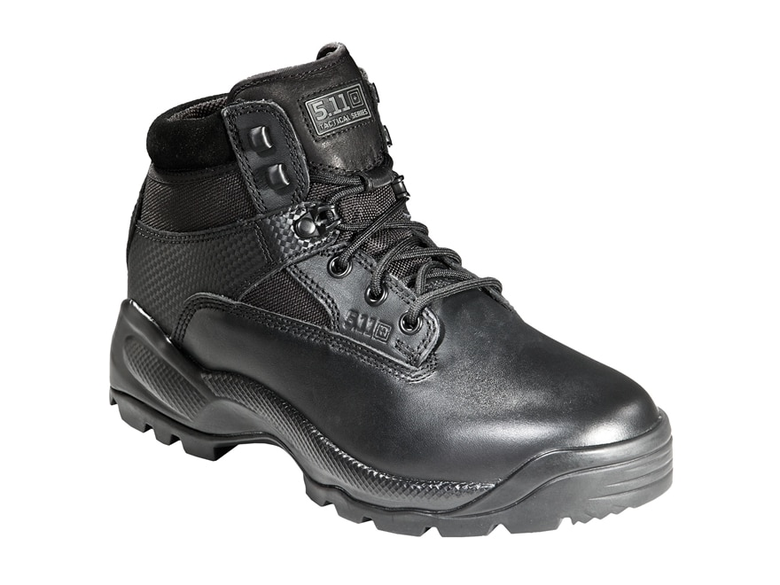"""5.11 ATAC 6"""" Tactical Boots Leather and Nylon Side Zip Black Men's"""