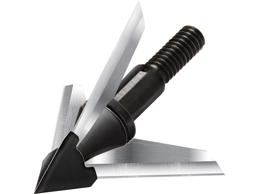 QAD Exodus Crossbow Fixed Blade Broadhead Swept Blade Stainless Steel Pack of 3