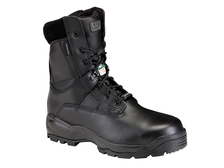 "5.11 ATAC 8"" Shield Waterproof Tactical Boots Leather Black Men's"