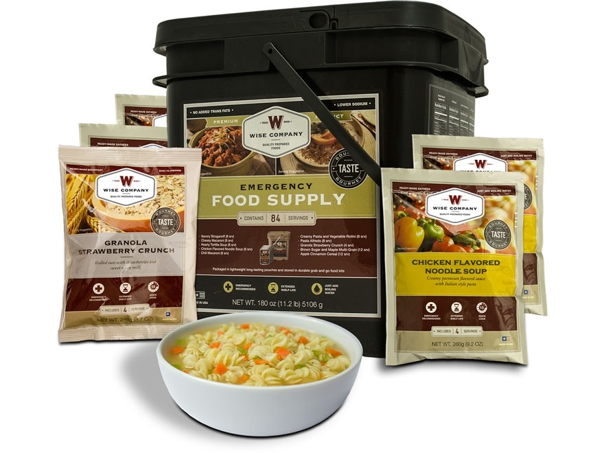 Wise Company Grab N' Go Freeze Dried Food 84 Serving Bucket