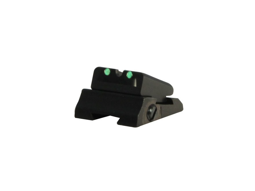 "Williams Fire Sight Rear Sight Slide and Blade Replacement 1/4"" Aluminum Black Fiber Op..."