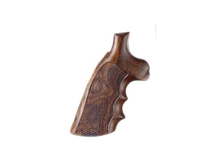 Hogue Fancy Hardwood Grips with Finger Grooves S&W N-Frame Square Butt Checkered
