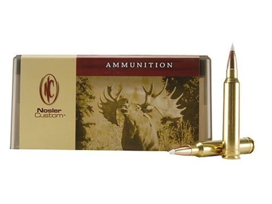 Nosler Custom Ammunition 300 Winchester Magnum 200 Grain AccuBond Spitzer Box of 20