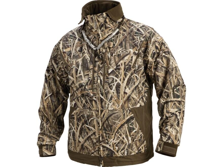 Drake Men's MST Waterfowl Fleece Full Zip Jacket Long Sleeve Waterproof Polyester