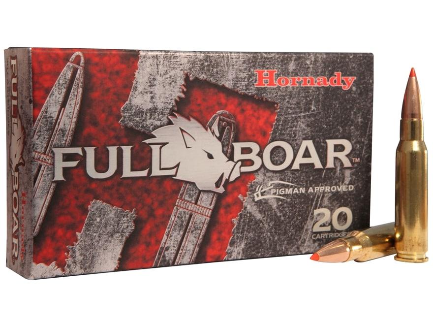 Hornady Full Boar Ammunition 308 Winchester 165 Grain GMX Boat Tail Lead-Free Box of 20