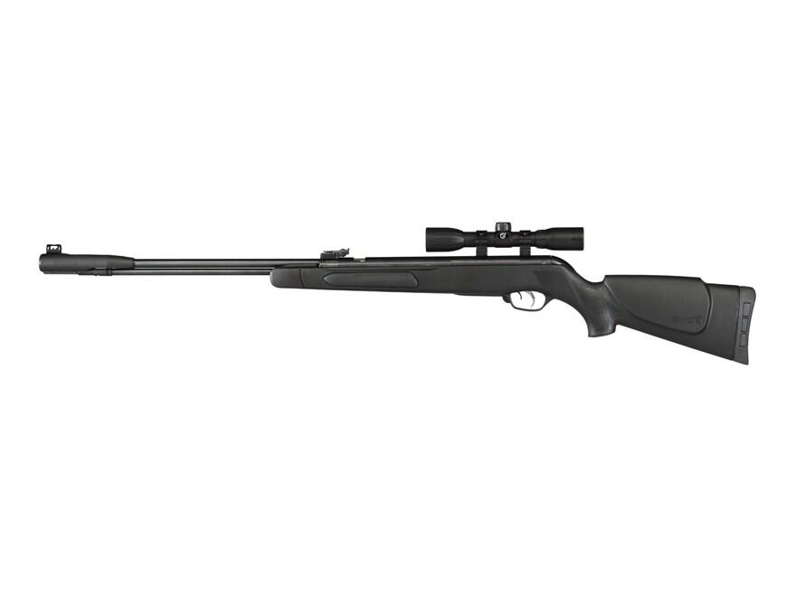 Gamo Accu177 Air Rifle 177 Caliber Pellet Black Synthetic Stock Blue Barrel with Gamo A...