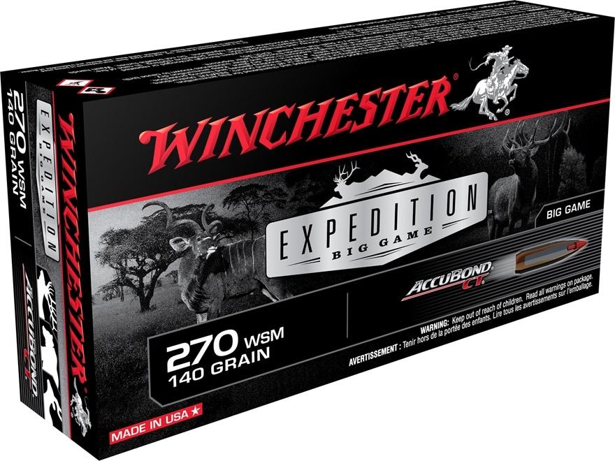 Winchester Expedition Big Game Ammunition 270 Winchester Short Magnum (WSM) 140 Grain N...