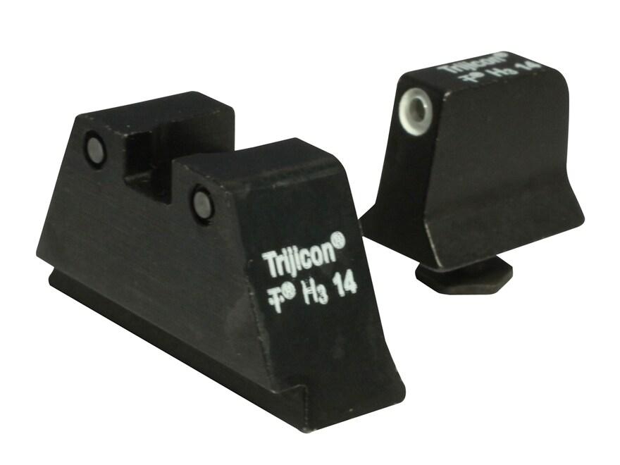 Trijicon Bright & Tough Suppressor Night Sight Set Glock Large Frame 3-Dot Tritium Gree...