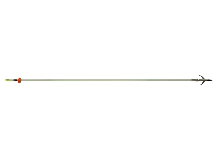 Cajun Archery Fiberglass Bowfishing Arrow with Safety Slide and Garpoon Point